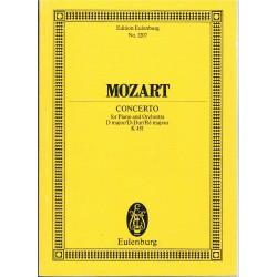 Mozart. Concierto K.451 en Re Mayor para Piano y Orquesta (Partitura de Bolsillo)