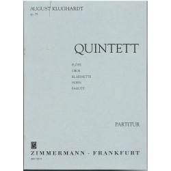 Klughardt, August. Quinteto Op.79 Flauta/Oboe/Clarinete/Trompa/Fagot (Partitura de Bolsillo)