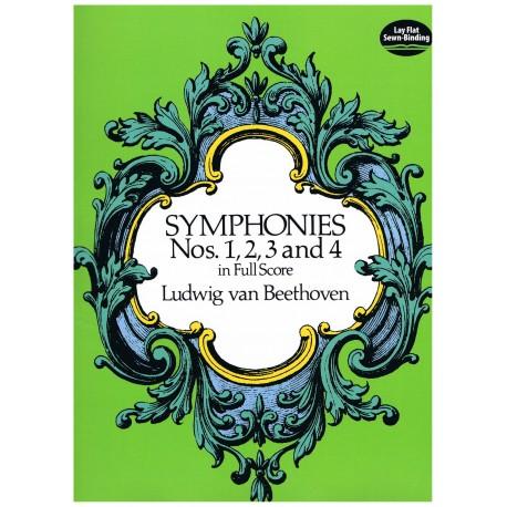 Beethoven. Sinfonías Nº1, 2, 3 y 4 (Full Score)