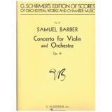 Barber, Samuel. Concierto para Violín y Orquesta Op.14 (Full Score)