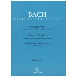 Bach, J.S. Concierto en Do Menor BWV 1060 (Oboe, Violín, Cuerdas y Bajo Contínuo) (Full Score)