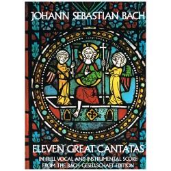 Bach, J.S. Eleven Great Cantatas (Full Score)