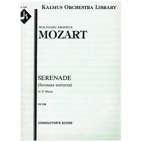 Mozart. Serenata Nocturna en Re Mayor  KV239 (Full Score + Partes)