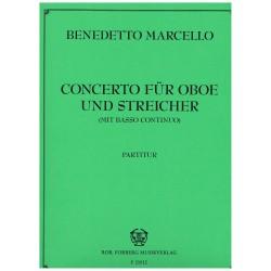 Marcello, Benedetto. Concierto Para Oboe y Cuerdas con Bajo Contínuo (Full Score)