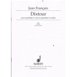 Francaix, Jean. Dixtour. Quinteto de Viento y Quinteto de Cuerda (Partes)