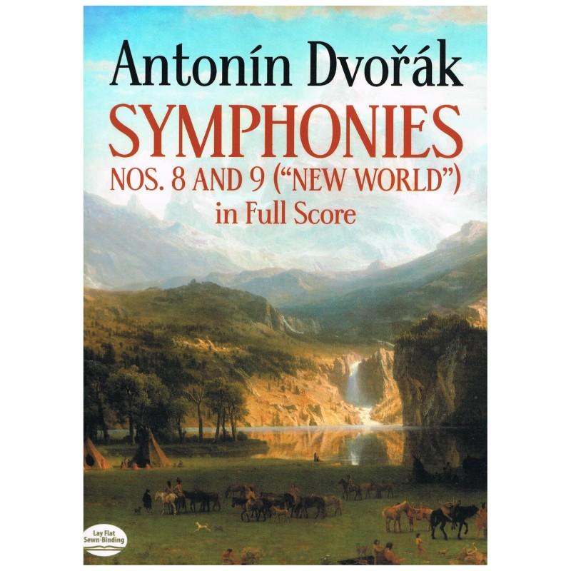 "Dvorak, Antonin. Sinfonías Nº8 y 9 ""Nuevo Mundo"" (Full Score)"