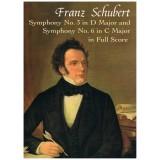 Schubert, Franz. Sinfonía Nº3 en Re Mayor / Sinfonía Nº6 en Do Mayor (Full Score)