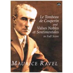 Ravel, Maurice. La Tumba de Couperin / Valses Nobles y Sentimentales (Full Score)