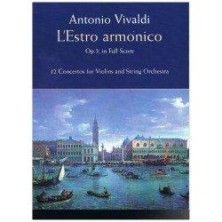 Vivaldi, Antonio. L´Estro Armónico Op.3 (Full Score)