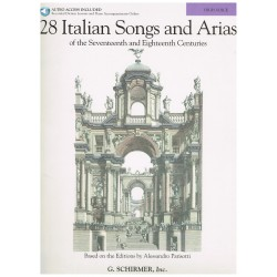 Varios. 28 Italian Songs And Arias de los Siglos XVII y XVIII (High Voice/Piano)