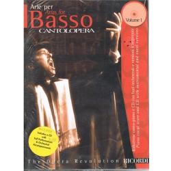 Varios. Cantolópera. Arie Per Basso Vol.1+CD Acomp. Orquestal