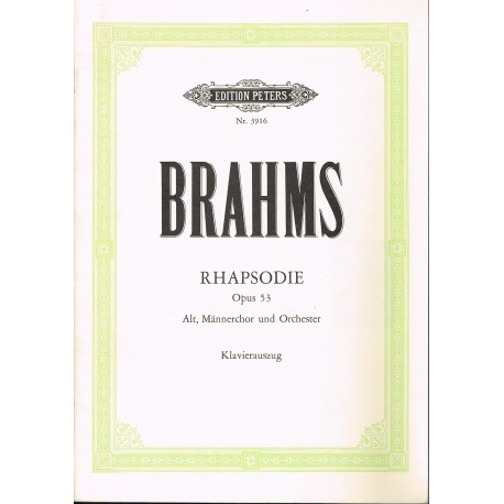 Brahms, Johannes. Rapsodia Op.53 (Soprano/Coro/Piano)