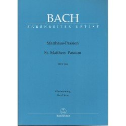 Bach, J.S. La Pasión Según San Mateo (Voz/Piano)