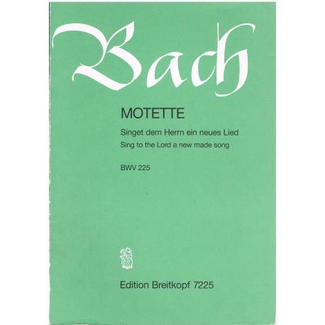 Bach, J.S. Motete BWV225 (Coro/Piano). Breitkopf