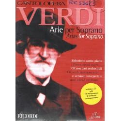 Verdi, Giuseppe. Cantolópera. Arias para Soprano (Voz+CD Base Orquestal)