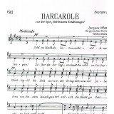 Offenbach, Jacques. Barcarola (Los Cuentos de Hoffmann) (Voz Soprano)