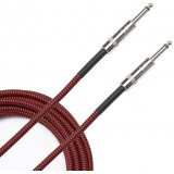 braided cable red 6m