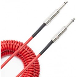 coiled cable red 9m