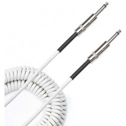 coiled cable white 9m