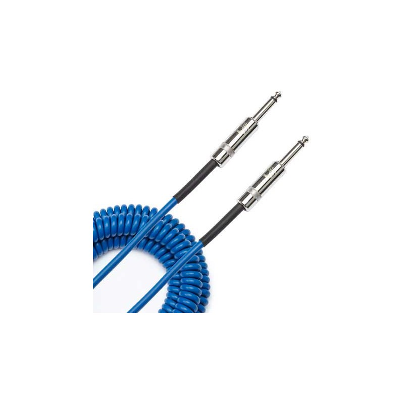 coiled cable blue 9m