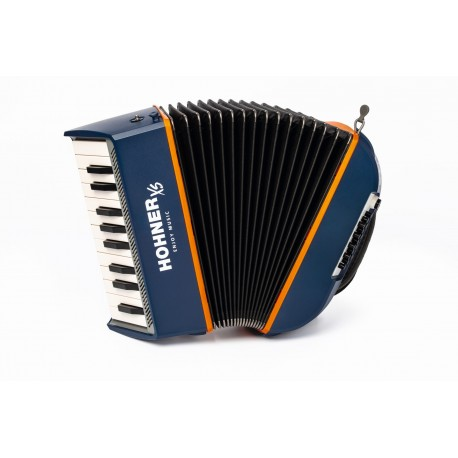 acordeon xs infantil azul naranja con mochila
