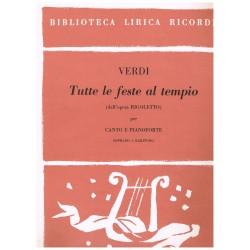 Verdi, Giuseppe. Tutte Le Feste Al Tempio (Rigoletto) (Voz Soprano/Baritono/Piano)
