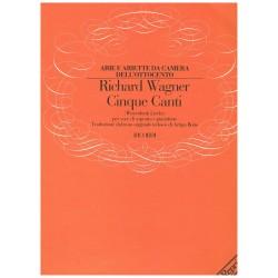 Wagner, Richard. Cinque Canti (Voz Soprano/Piano)