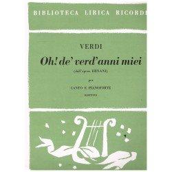 Verdi, Giuseppe. Oh, de verd anni miei (Ernani) (Voz Baritono/Piano)