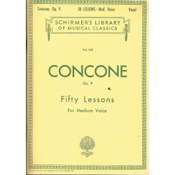 Concone, Giuseppe. 50 Lecciones Op.9 (Voz Media/Piano)
