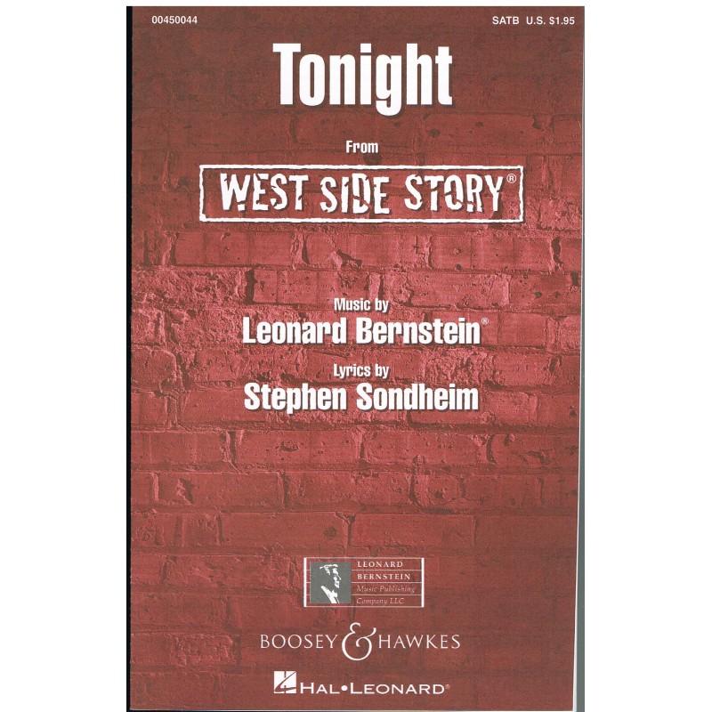 Bernstein, Leonard. Tonight (West Side Story) (Coro/Piano)