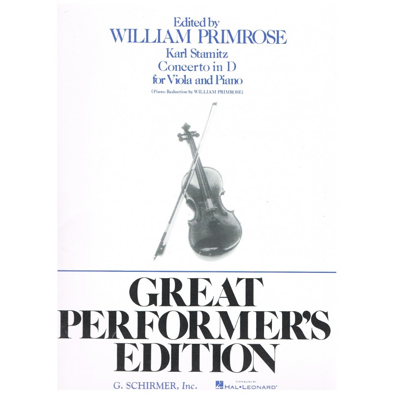 Stamitz, Karl. Concierto en Re Mayor (Viola/Piano)