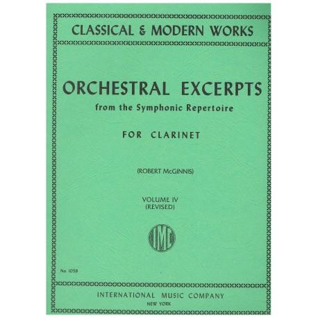 Varios. Orchestral Excerpts Vol.IV (Clarinete)