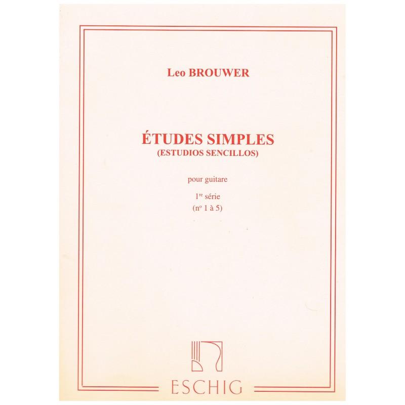 Brouwer, Leo. Estudios Simples Vol.1 (1-5) (Guitarra)