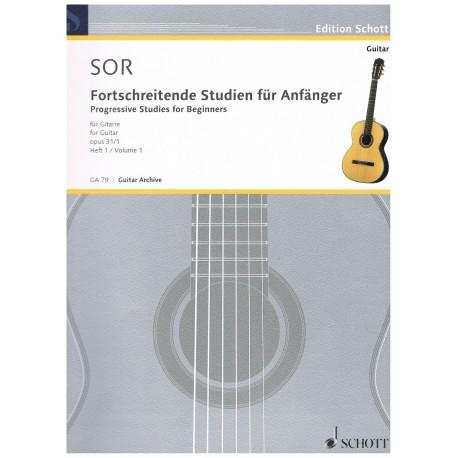 Sor, Fernando. Estudios Progresivos para Principiantes Op.31 Vol.1 (Guitarra)