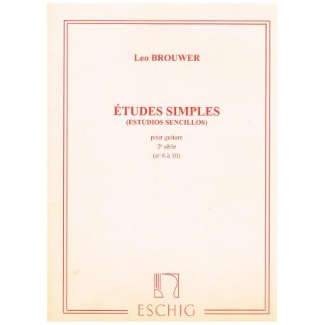 Brouwer, Leo. Estudios Simples Vol.2 (6-10) (Guitarra)