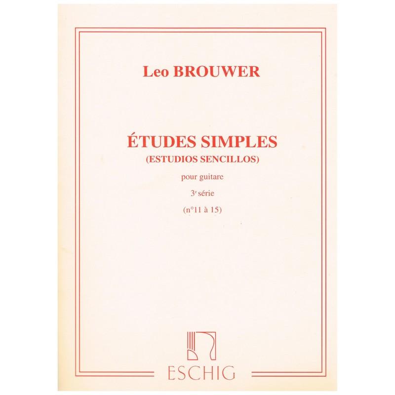 Brouwer, Leo. Estudios Simples Vol.3 (11-15) (Guitarra)