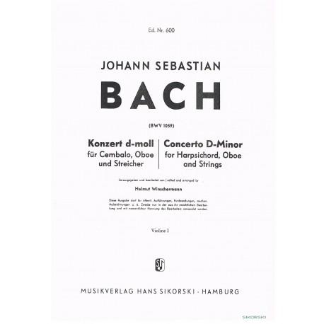 Bach, J.S. Concierto en Re menor BWV 1059 para Oboe, Hapsichord y Cuerdas (Partes de Cuerdas)