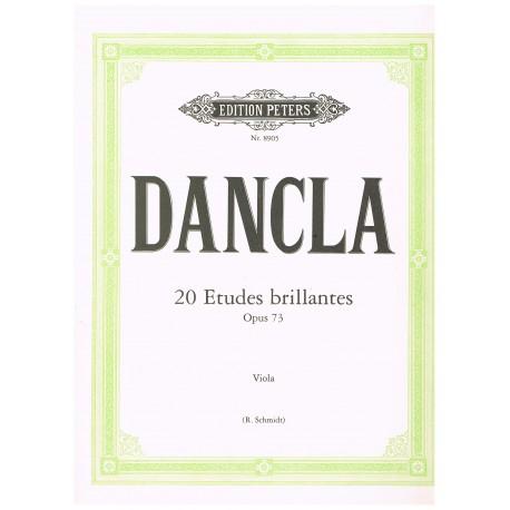 Dancla, Charles. 20 Estudios Brillantes Op.73 (Viola)