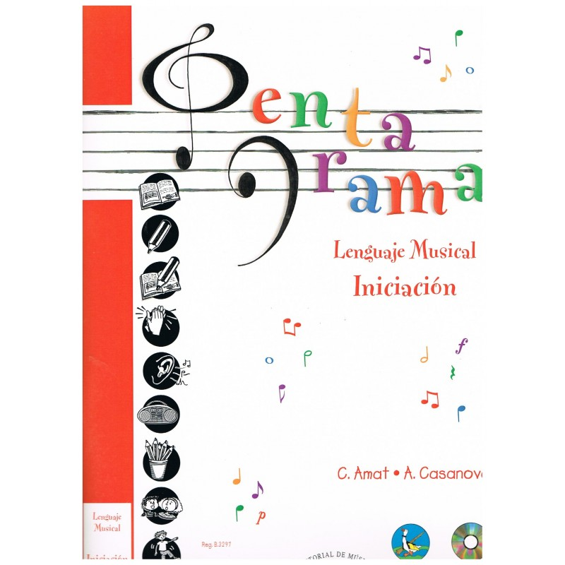 Amat/Casanova. Pentagrama. Lenguaje Musical. Iniciación