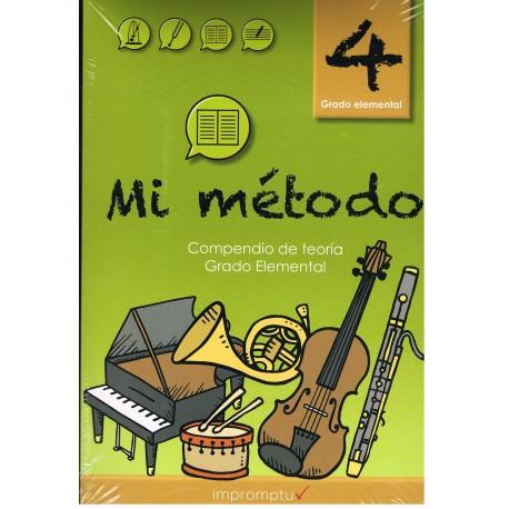Varios. Mi Método 4. Lenguaje Musical. Grado Elemental