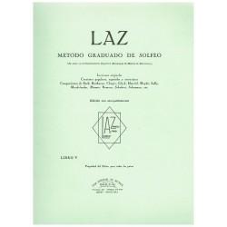 Varios. LAZ Método Graduado de Solfeo Vol.5 con Acompañamiento de Piano