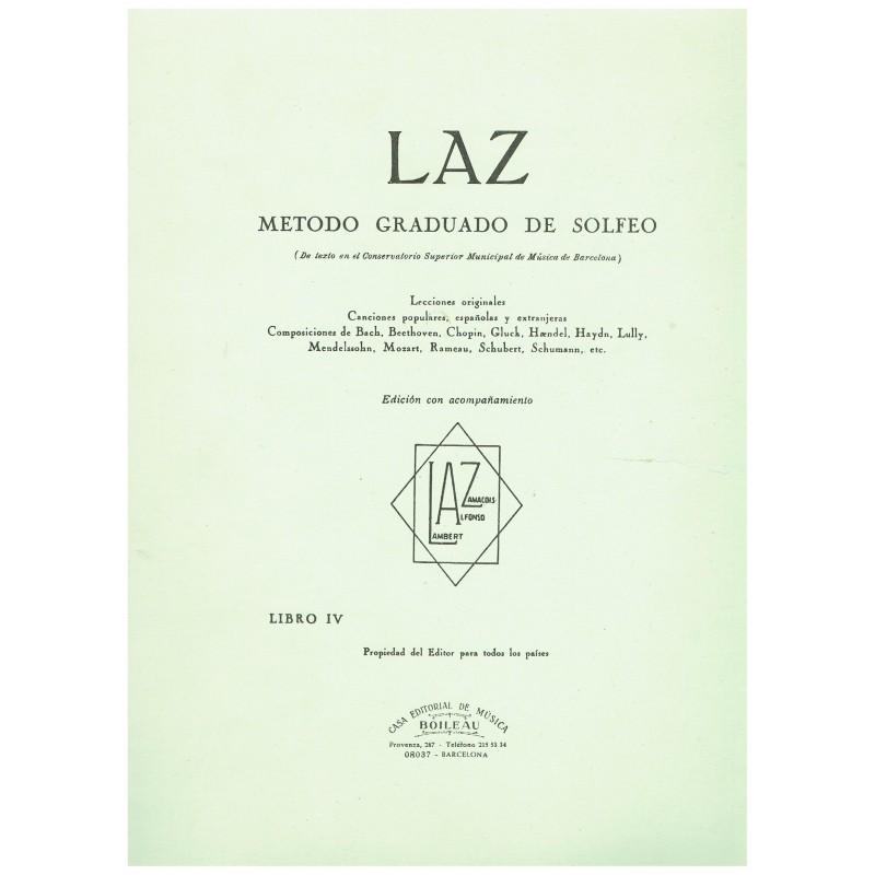 Varios. LAZ Método Graduado de Solfeo Vol.4 con Acompañamiento de Piano