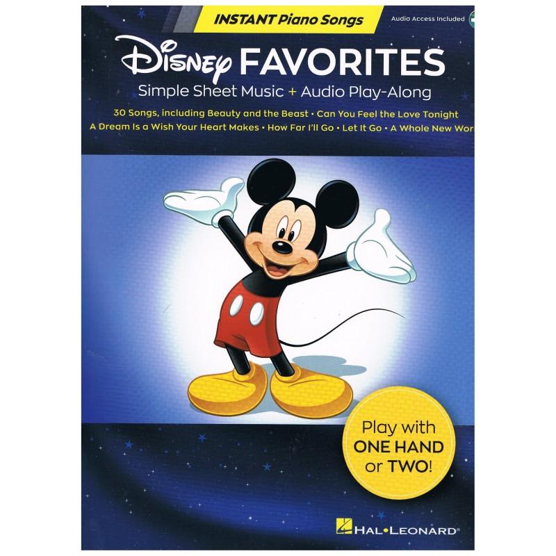 Disney. Disney Favorites Piano 1 o 2 manos + Audio Access