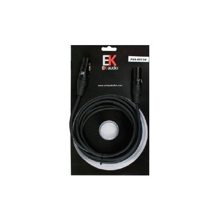 Cable para Microfono EK audio PXX0013 XLR XLR 3mts