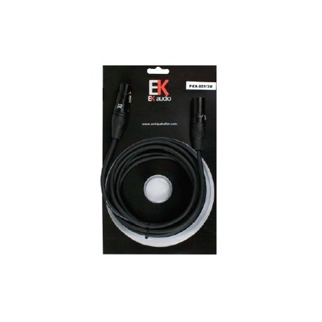 Cable para Microfono EK audio PXX0013 XLR XLR 6mts