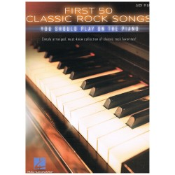 Varios. First 50 Classic Rock Songs you should play on the piano (Easy)