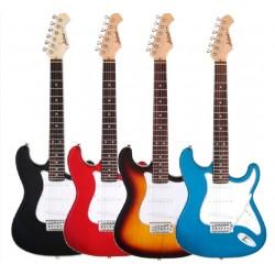 "Guitarra ""ARIA"" Stratocaster STG-MINI Negro"