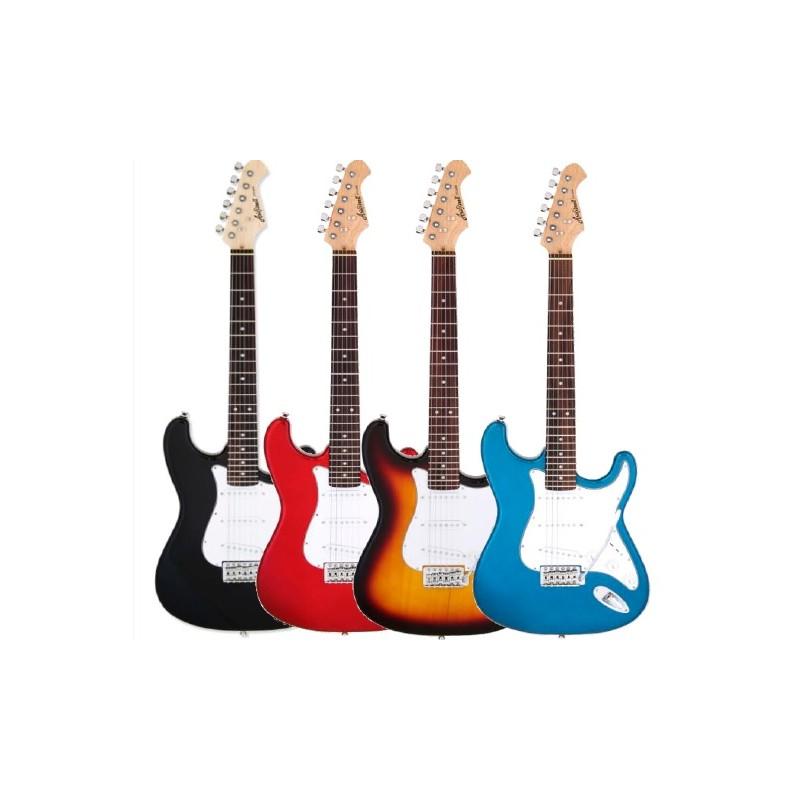 Guitarra ARIA Stratocaster STG MINI Negro