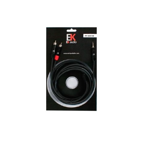 Cable EK audio mini JACK RCA 15m