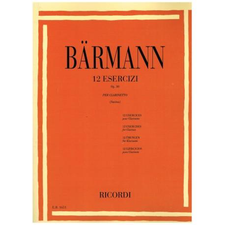 Baermann, H. 12 Ejercicios Op.30 (Clarinete)